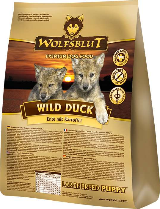 Wolfsblut Wild Duck Large Breed Puppy Pato y Patata 2 kg 4260262761859 opiniones