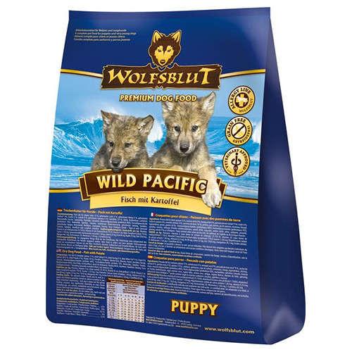 Wolfsblut Wild Pacific Puppy Vis met Aardappel 15 kg, 2 kg, 500 g