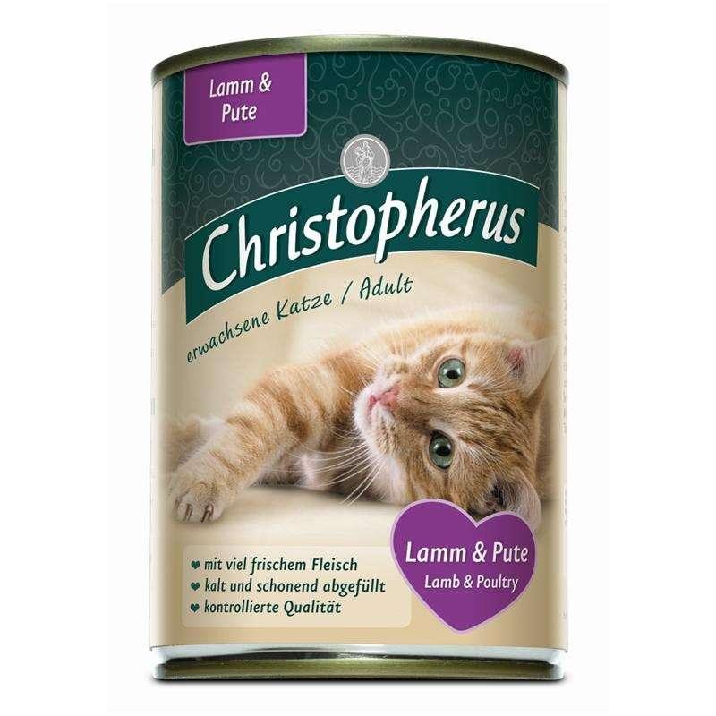 Christopherus Adult Cats - Lamb & Turkey Can 400 g 4005784174073 anmeldelser