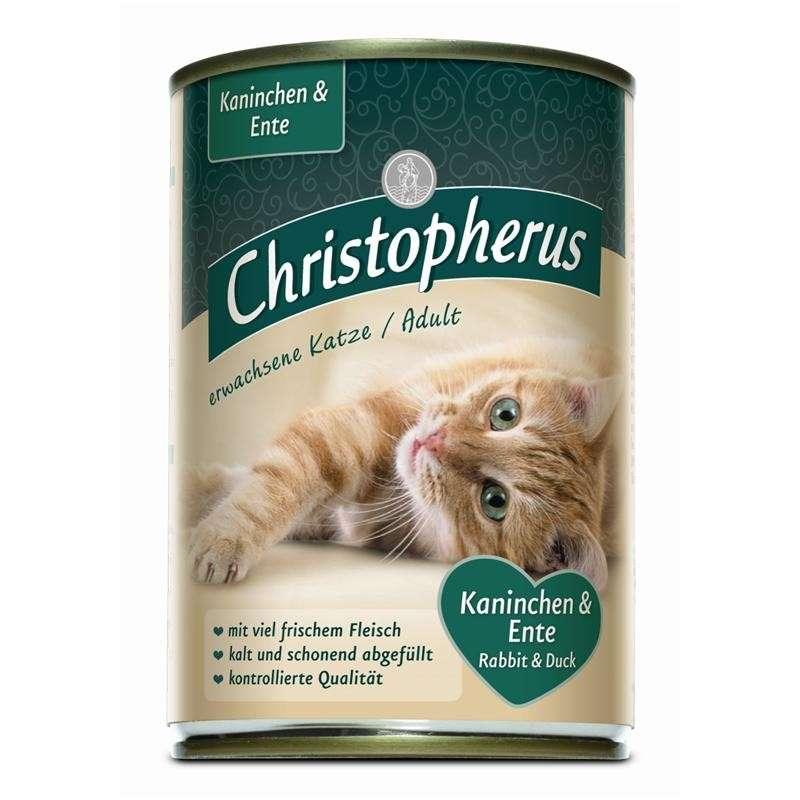 Christopherus Adult Cats - Duck & Rabbit Can 400 g 4005784174080 anmeldelser