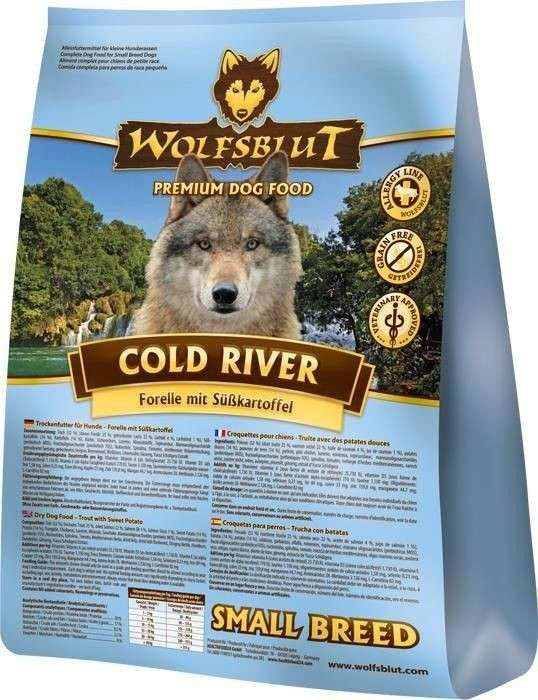 Wolfsblut Cold River Small Breed Forel en zoete Ardappel 500 g, 2 kg, 15 kg