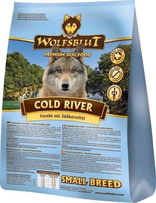 Wolfsblut Cold River 500 g, 2 kg, 15 kg køb rimeligt og favoribelt med rabat