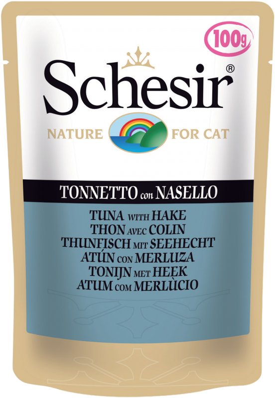 Schesir Pouch Tuna with Hake 100 g, 50 g