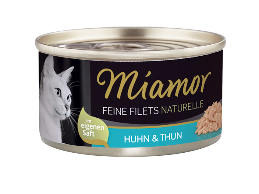 Miamor Feine Filets Naturelle - Pollo y Atún 80 g