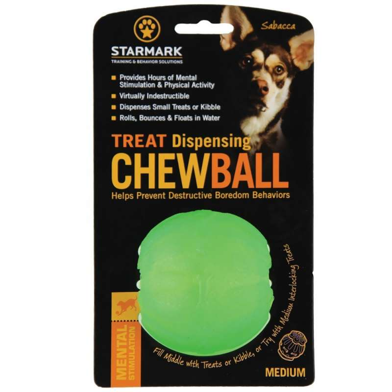 StarMark Treat Dispensing ChewBall (Ø7cm)  0873199000256 opiniones