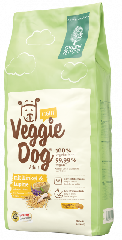 Green Petfood VeggieDog light with Spelt and Lupine 15 kg 4032254743972 erfaringer