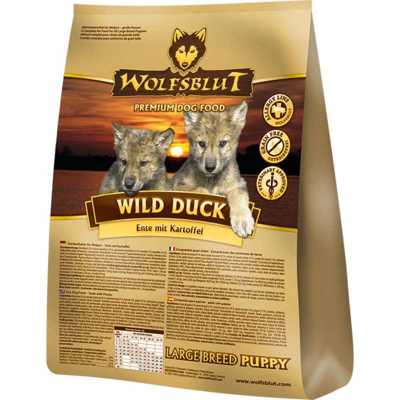 Wolfsblut Wild Duck Large Breed Puppy Pato y Patata 2 kg, 15 kg prueba