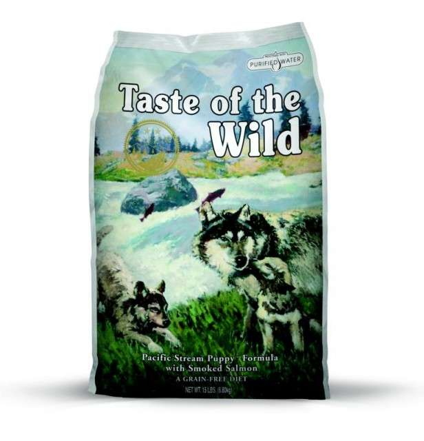 Taste of the Wild Pacific Stream Puppy 13.6 kg, 2.27 kg