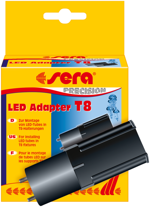 Sera LED Adapter T8, 2 st.  T8  Zwart