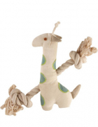 Simply Fido Natural Canvas Little Gable Giraffe, 23cm Giraffe