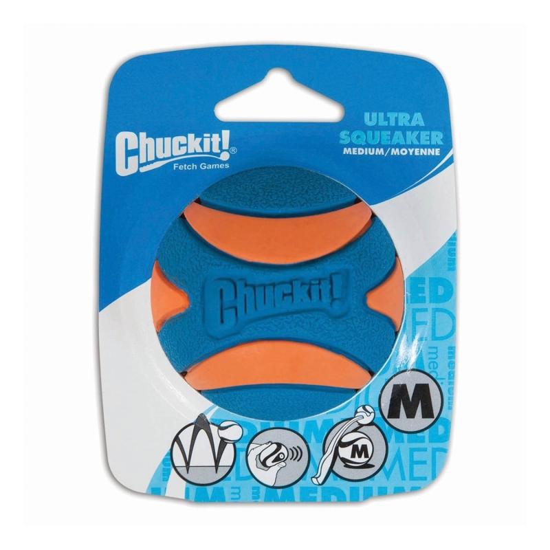 Chuckit! Ultra Squeaker Ball Azul 0029695520686 opiniones