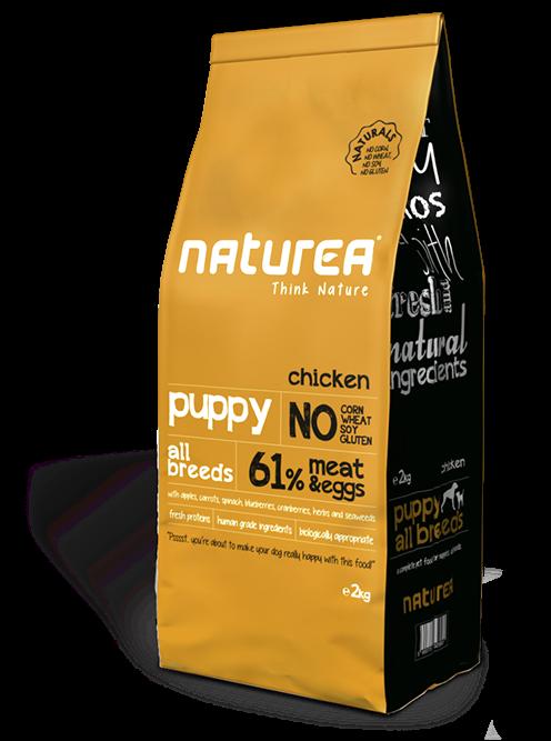 Naturea Naturals Puppy Chicken 2 kg, 12 kg prueba