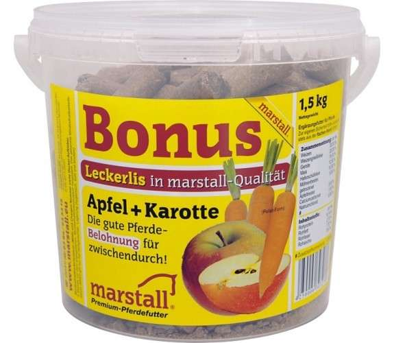 Marstall Bonus Apple+Carrot 25 kg, 1.5 kg