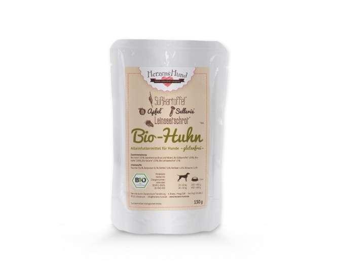 Herzens Hund Poulet bio + patate douce pour Chien 400 g, 130 g, 800 g