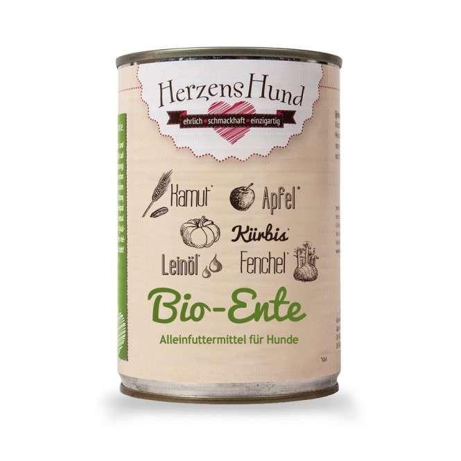 Herzens Hund Canard + légumes biologiques pour Chien 400 g
