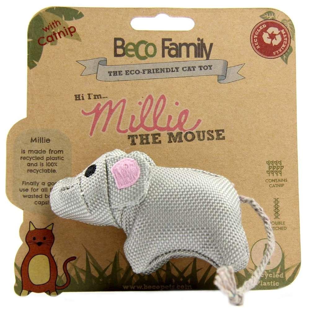 BeCo Pets Juguete para Gatos Millie Ratón  10x4 cm