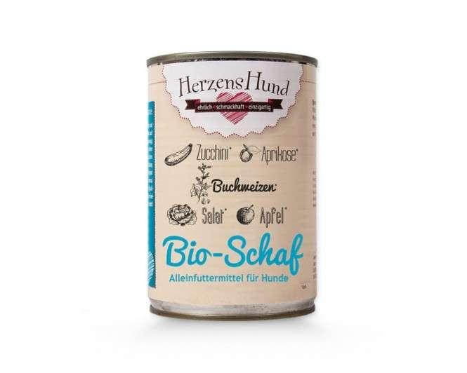 Herzens Hund Bio Viande de mouton + Courgettes pour Chien 400 g