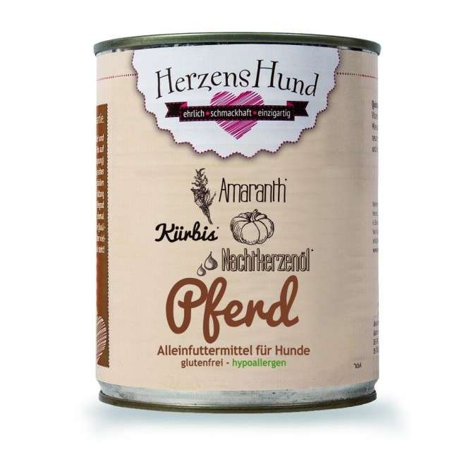 Herzens Hund Cheval avec Citrouille et Amarante organique 400 g, 130 g, 800 g