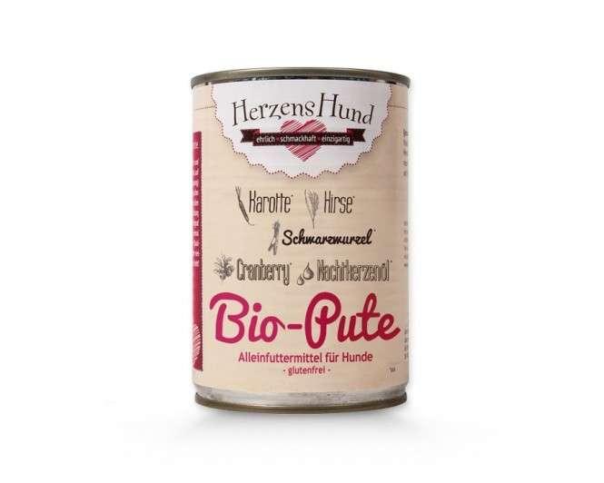 Herzens Hund Bio Dindon + du Mil pour Chien 400 g 4260343400028 avis