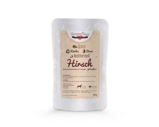 Herzens Hund Venison & Bio Quinoa pour Chien 130 g 4260343400028 avis
