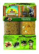 JR Farm Peanut Bar double pack Nuts and Elderberries 700 g