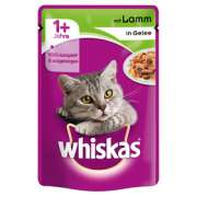 Whiskas Pouch 1+ with Lamb in jelly 100 g handle billig her