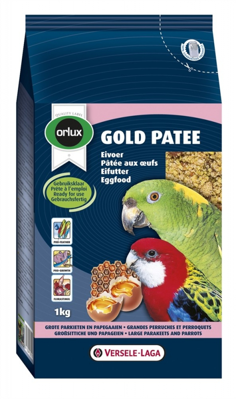 Versele Laga Orlux Gold Patee Large Parakeets & Parrots 1 kg, 250 g