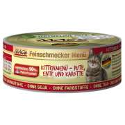 Feinschmecker Kitten - Turkey, Duck & Carrot, Canned 100 g