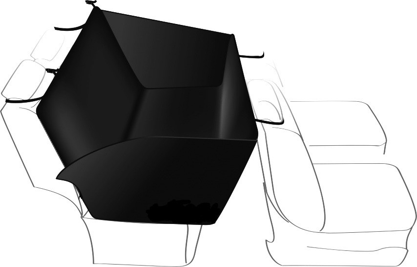 Trixie Car Seat Cover, black  150x135 cm