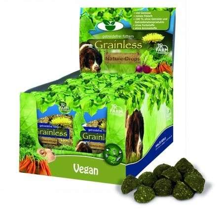 Godbiter og drops Grainless Nature - Drops Vegan 30 g  fra JR Farm kjøp billig med rabatt