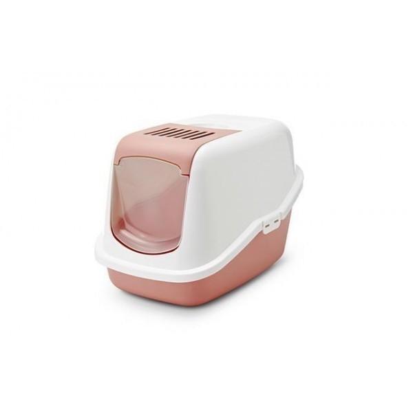 Savic Cat Litter Box - Nestor Retro  Vaaleanpunainen