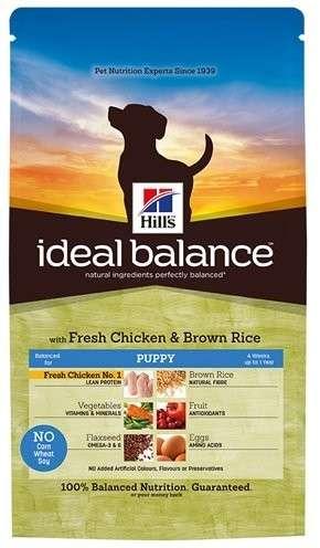 Hill's Ideal Balance Puppy tuore Kananliha ja ruskea Riisi 0052742313009 kokemuksia