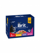 Brit Premium Cat Pouches Family Plate 12x100 g