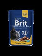 Brit Premium Cat Pouches with Chicken & Turkey  best price