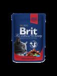 Brit Premium Cat Pouches med Oksekjøtt og Erter