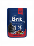 Brit Premium Cat Pouches Naudanlihaa ja Herneitä 100 g