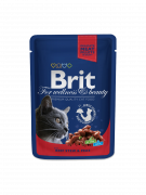 Cat Pouches with Beef Stew & Peas Brit online at best prices!