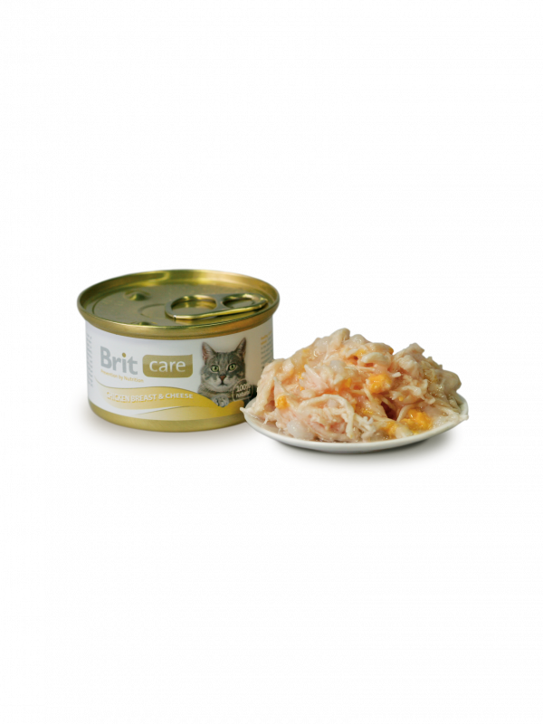 Care Cat Chicken Breast & Cheese by Brit 80 g buy online