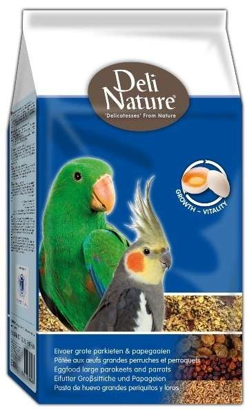Deli Nature Eggfood Large Parakeets and Parrots 800 g, 10 kg
