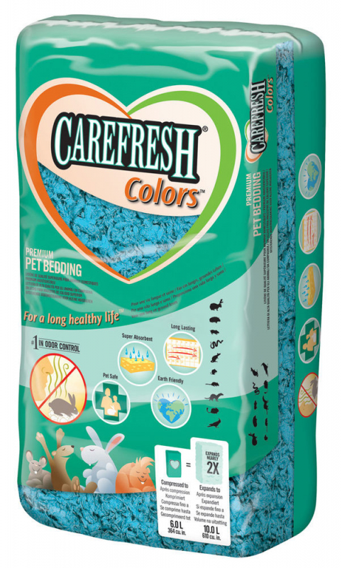 CareFresh Pet Bedding Colors 10L  Ljusblå