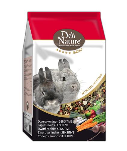 Deli Nature 5 Star menu - Zwergkaninchen Sensitive 2.5 kg, 750 g