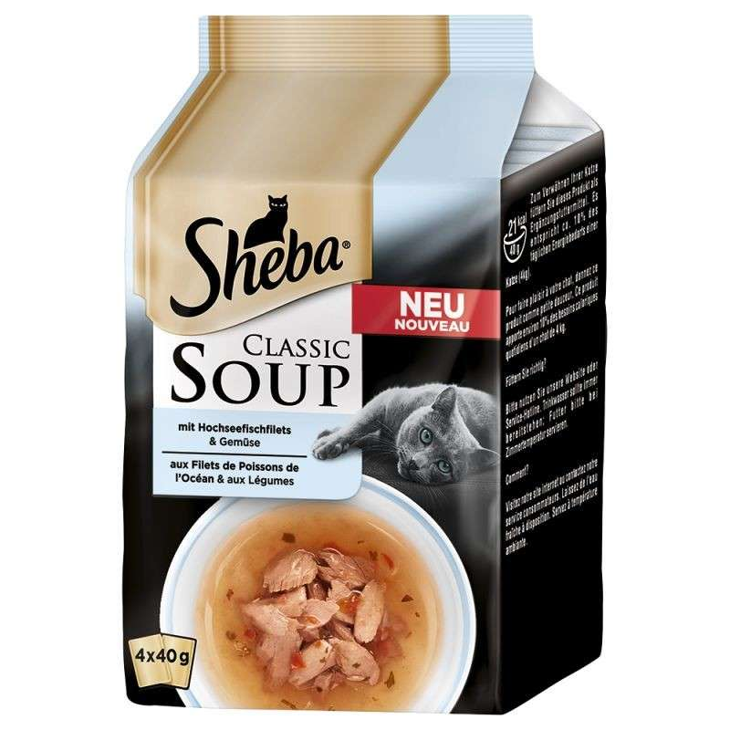 Sheba Classic Soup - Fish Fillets & Vegetables 4x40 g order cheap