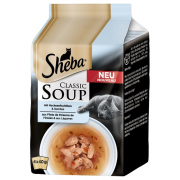 Sheba Classic Soup - Fish Fillets & Vegetables 4x40 g