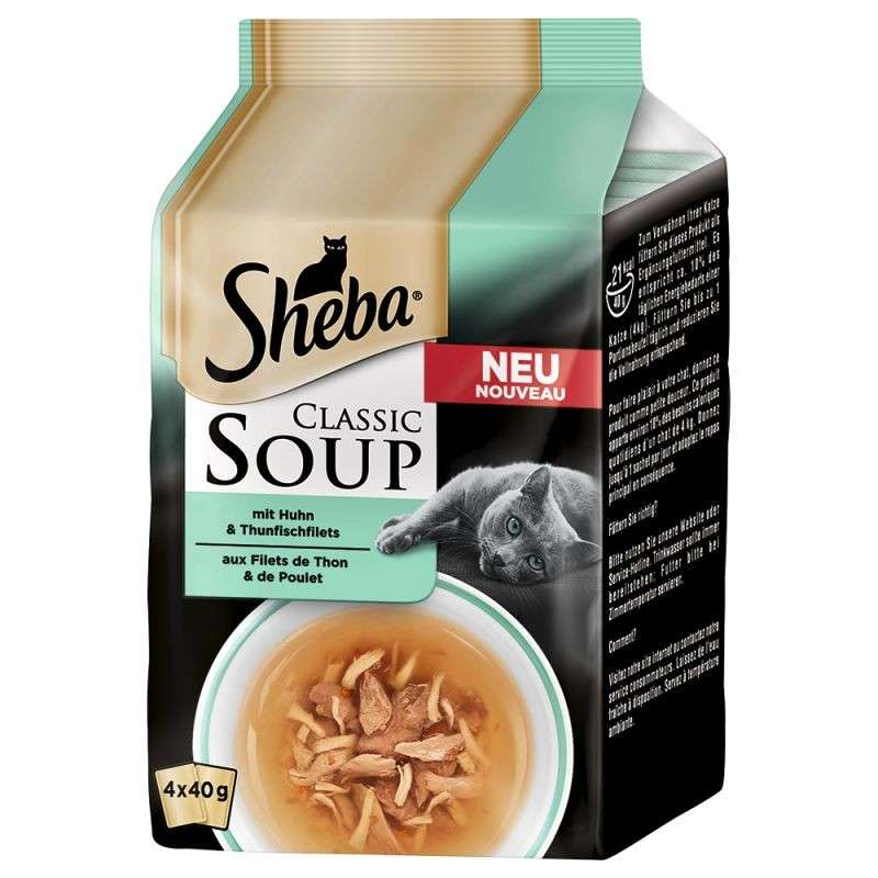 Sheba Classic Soup - Chicken + Tuna fillets EAN: 4008429083631 reviews