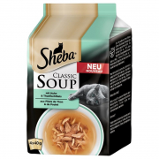 Sheba Classic Soup - Chicken + Tuna fillets 4x40 g