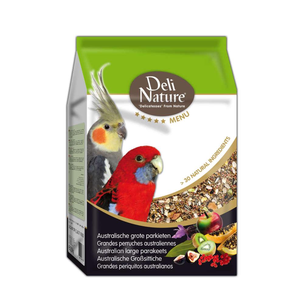 Deli Nature 5 Star menu - Periquitos Australianos Grandes 2.5 kg, 800 g Compre a bom preço com desconto