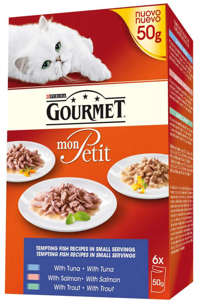 Purina Gourmet Mon Petit Fisk 50 g kjøp billig med rabatt