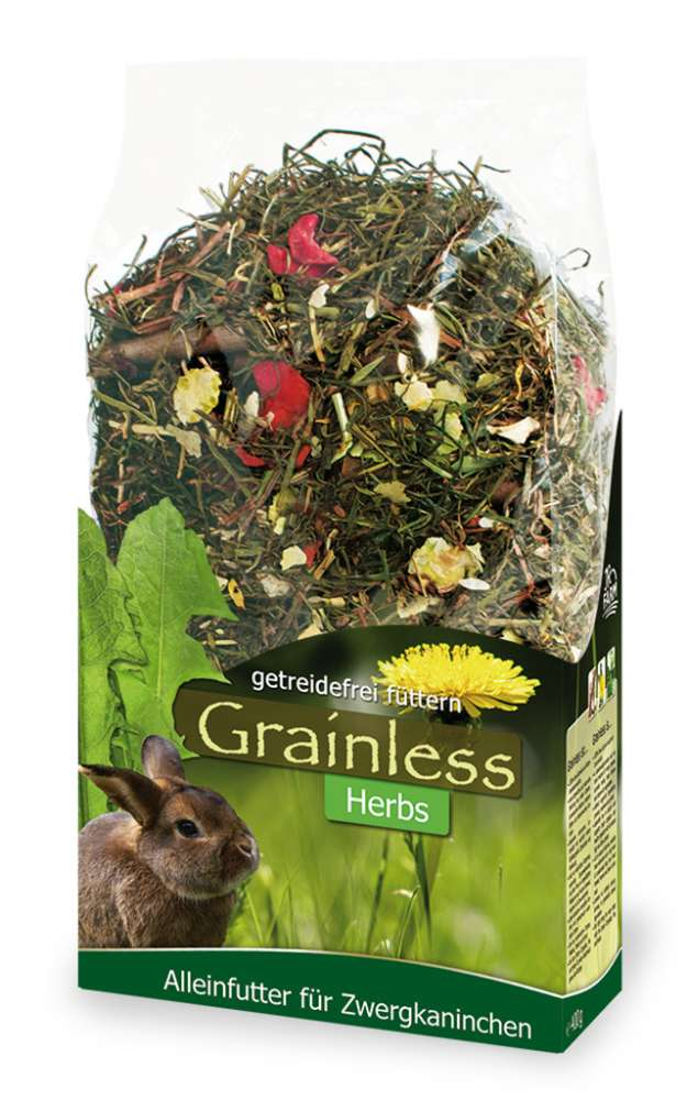 JR Farm Grainless Herbs Dwarf Rabbits 950 g, 5 kg, 400 g köp billiga på nätet