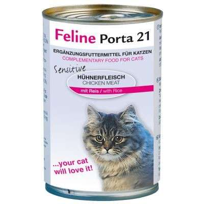Feline Porta 21 Filete de Pollo con Arroz - Sensitive 90 g, 400 g, 156 g