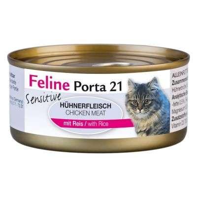 Feline Porta 21 Filete de Pollo con Arroz - Sensitive 90 g, 400 g, 156 g prueba
